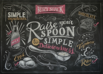 Chalk art for restaurants, events, editorial and TV.